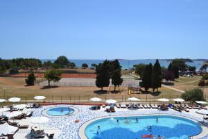 Pool and Adriatic Sea view room at the Park Plaza Resort; Medulin, Croatia