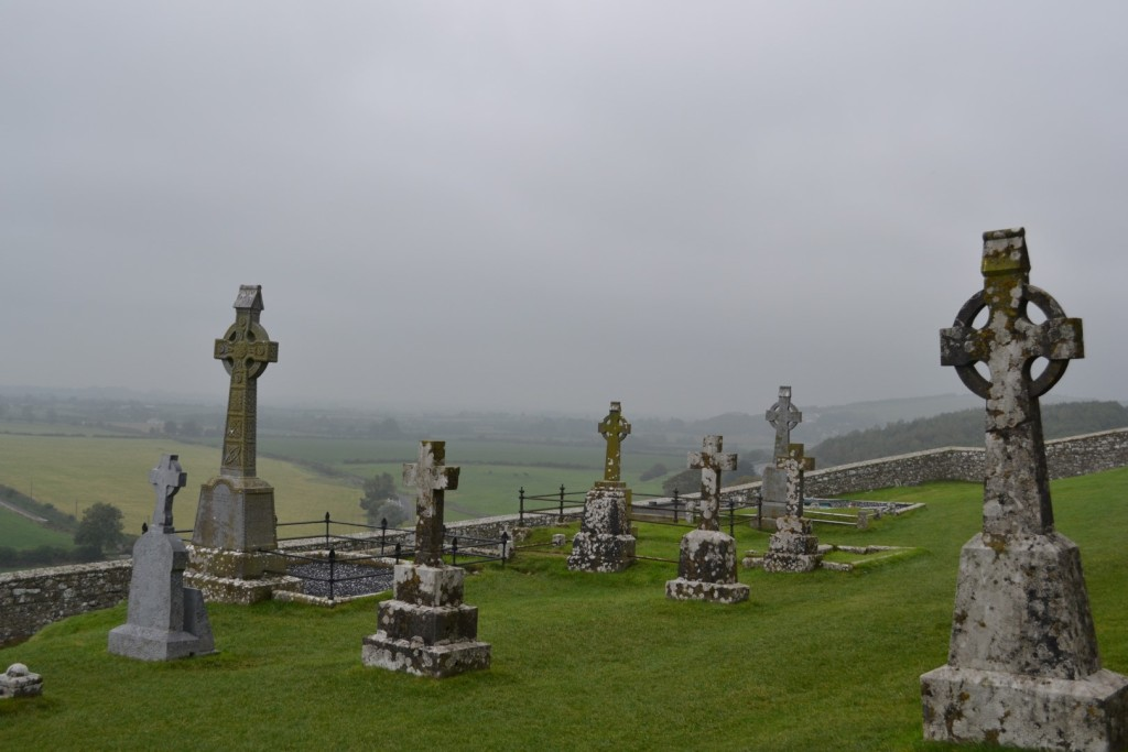 Cemetery of Cashel Rock during our 1 week tour of ireland