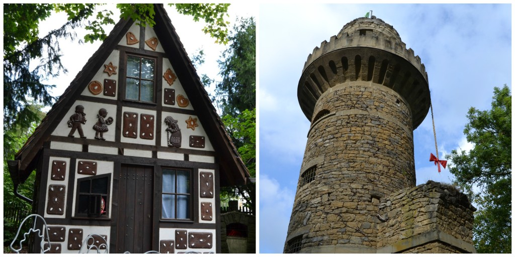 Hansel and Gretel's House and Rapunzel's Castle