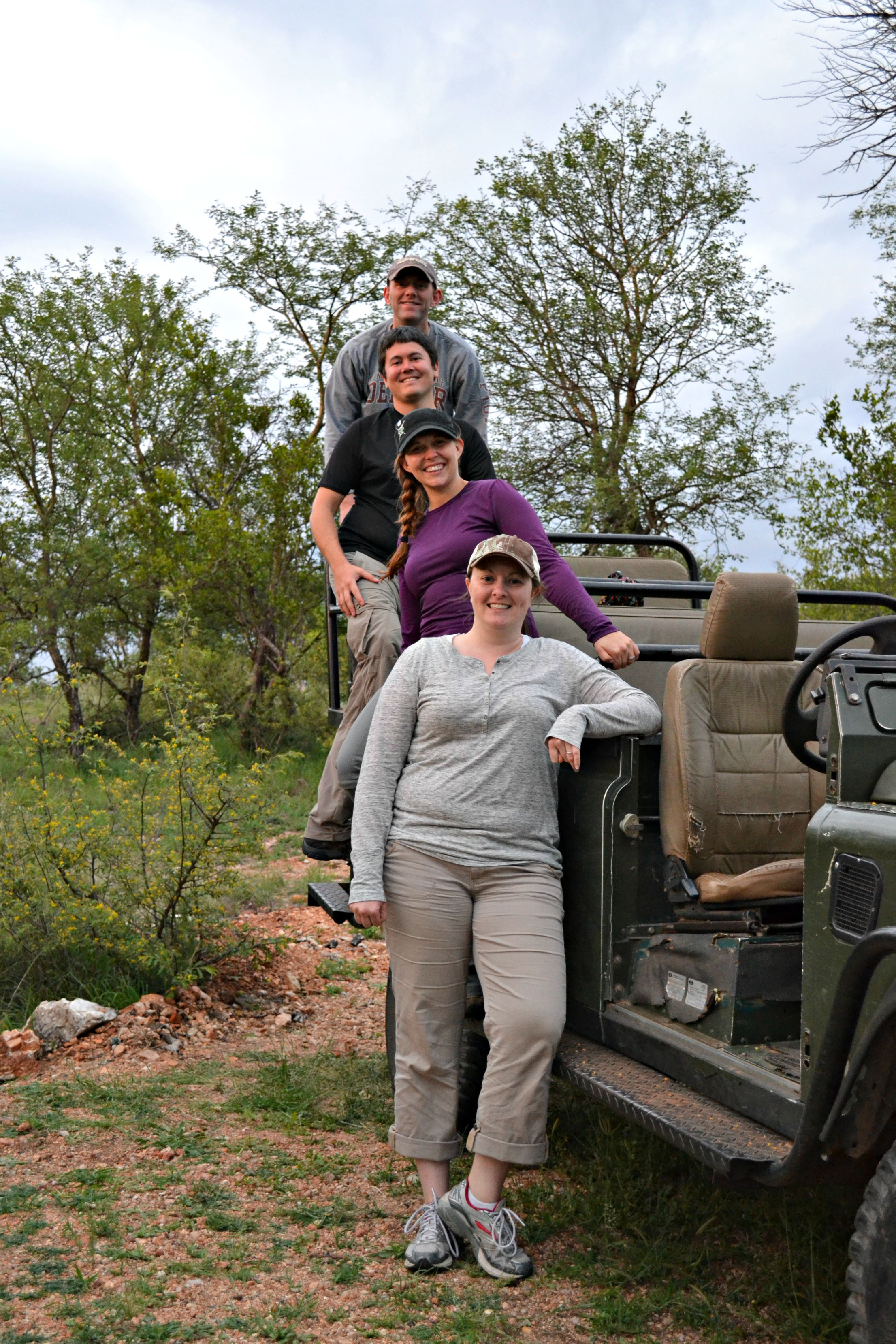 On a Safari in South Africa, one of our many trips with our friends