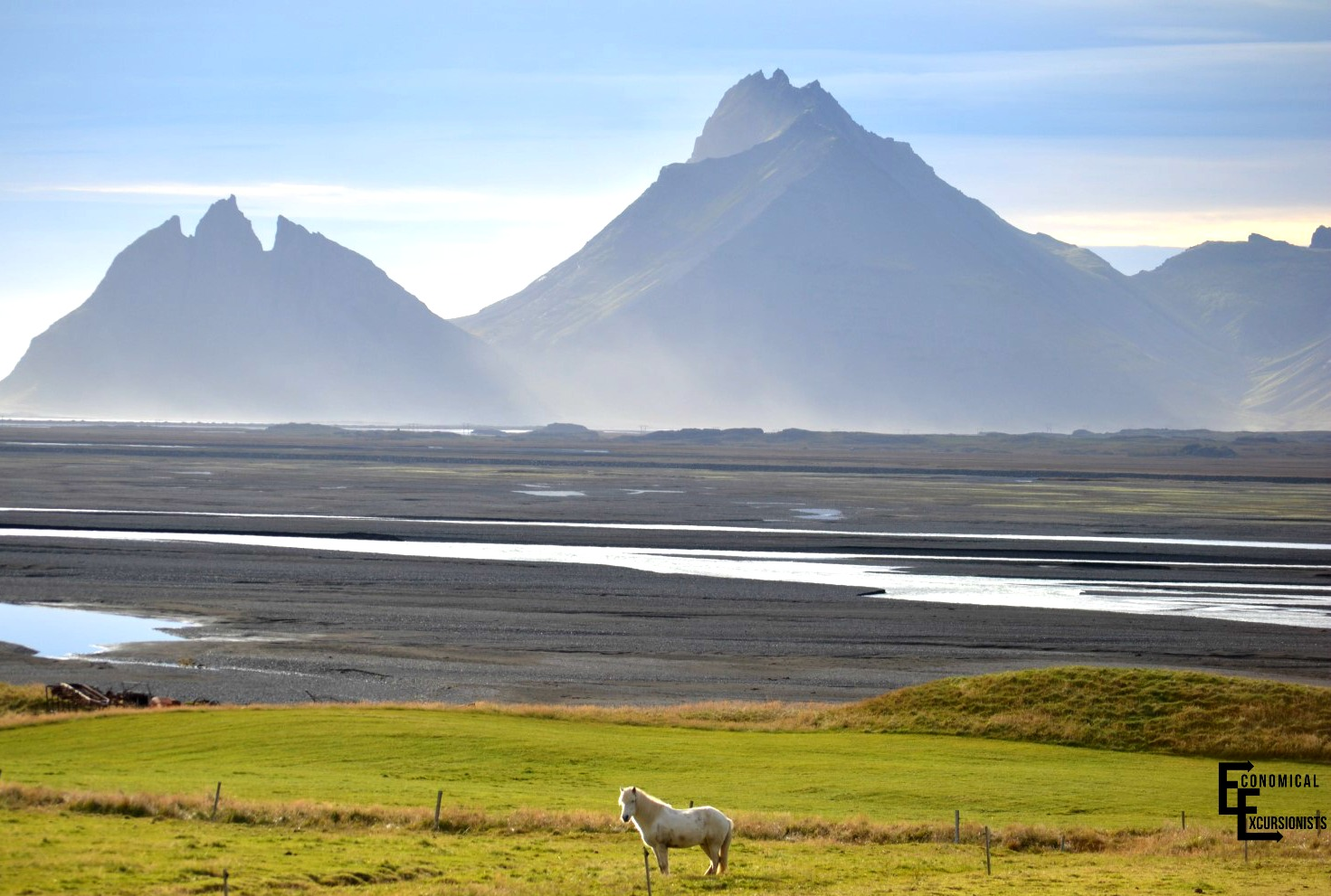 Iceland Horses and Mountains