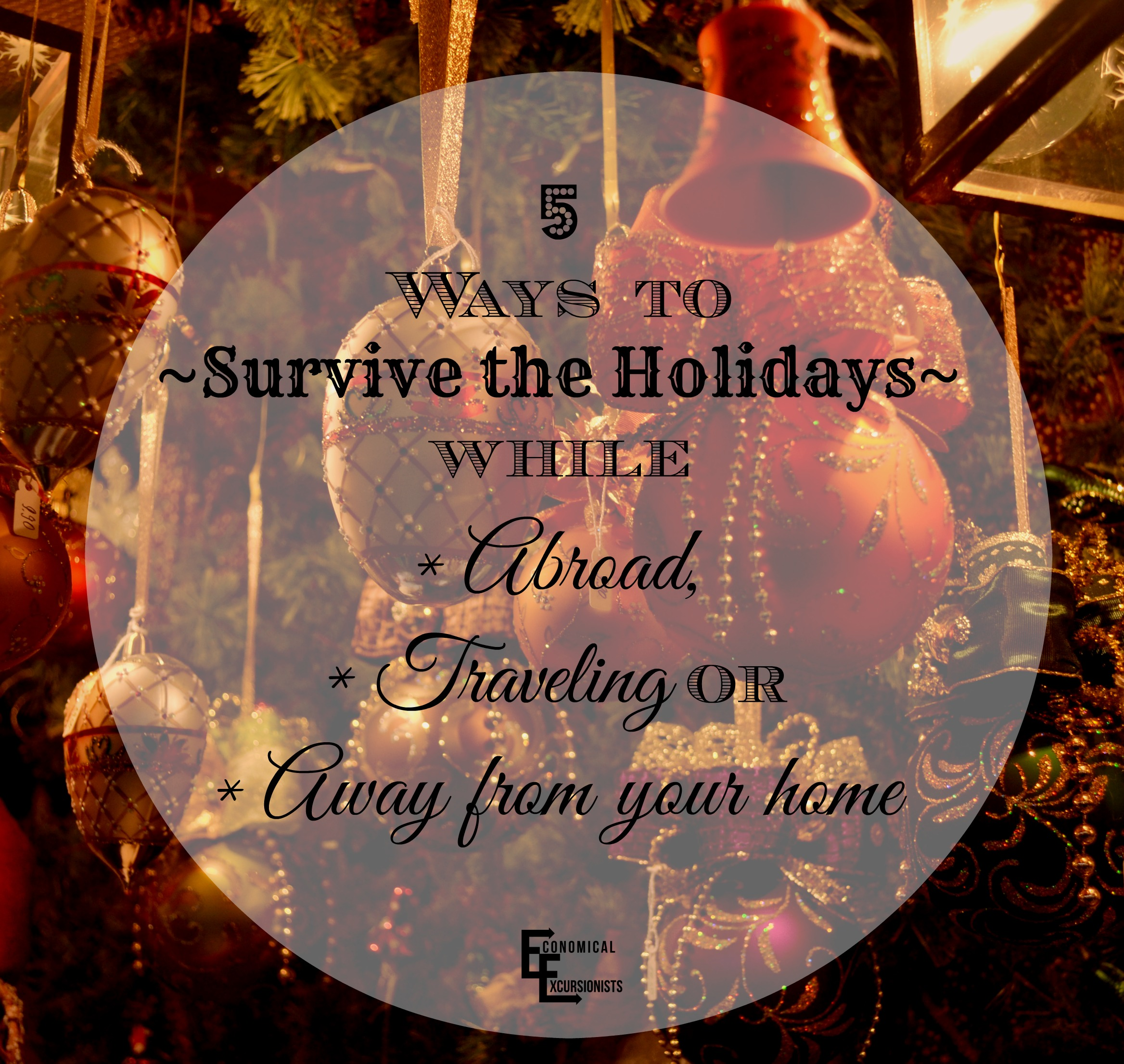 Being gone during the holiday can be HARD. All good tips to remember while traveling this Christmas