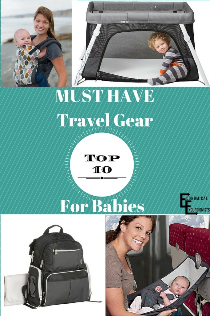 10 Must Haves for traveling with a baby- I love the idea of #4!
