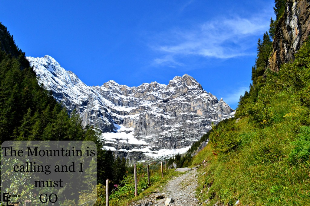 The mountain is calling- Gimmelwald Switzerland