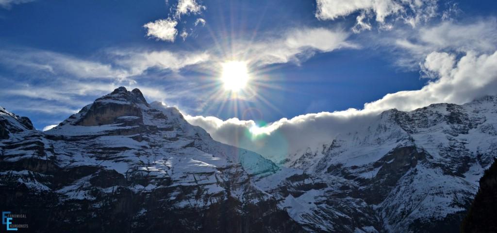 Stunning mountain views from Gimmelwald, Switzerland