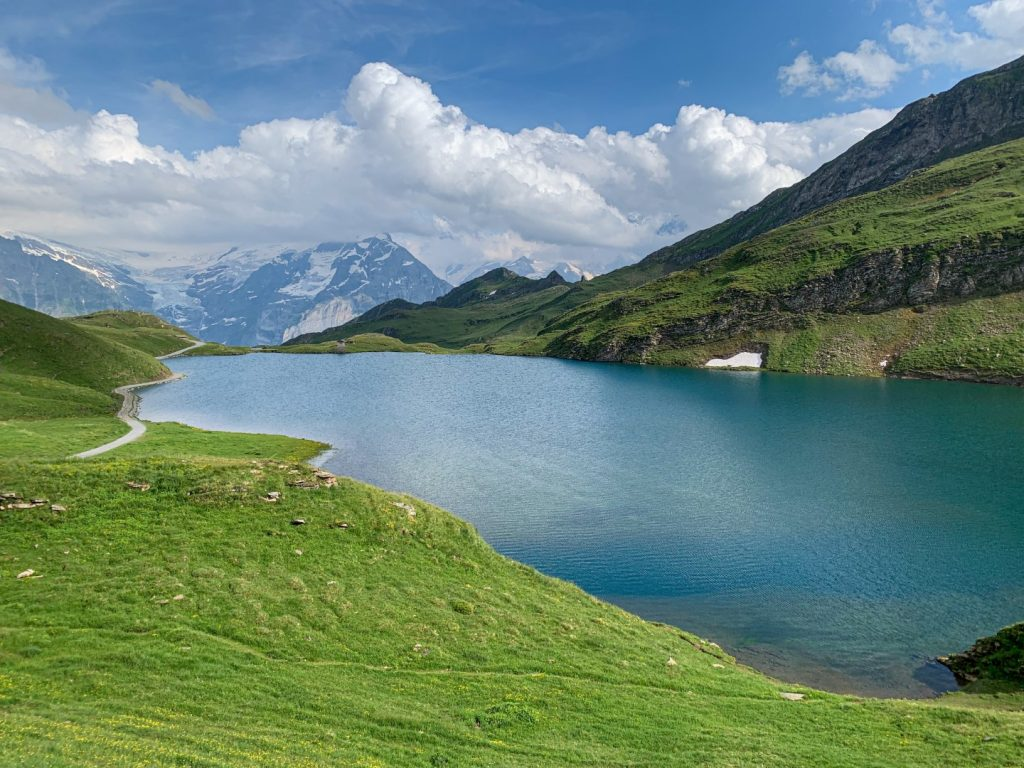 bachsee grindelwald Bachalpsee in the berner oberland near First Switerland