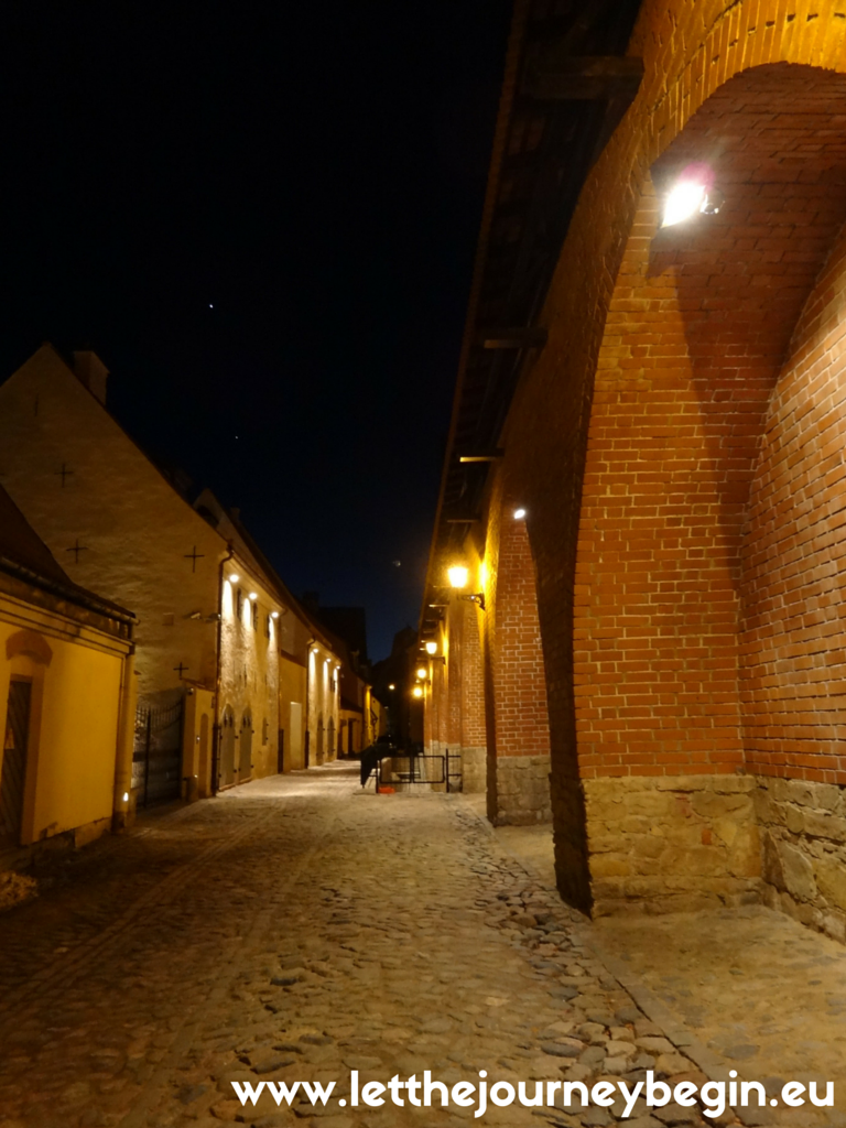 Riga city wall at night-it  is such an overlooked gem in Europe!!