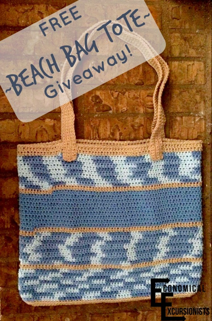 Economical Excursionists do monthly giveaways, I would love this beautiful beach bag tote for the summer!