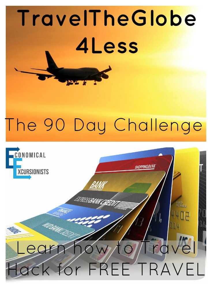 Travel Hacking doesn't have to be scary or hard. EconomicalExcursionists, TravelTheGlobe4Less and TheGlobeTrotting teacher help you learn to travel hack in just 90 days with this Travel Hacking Challenge
