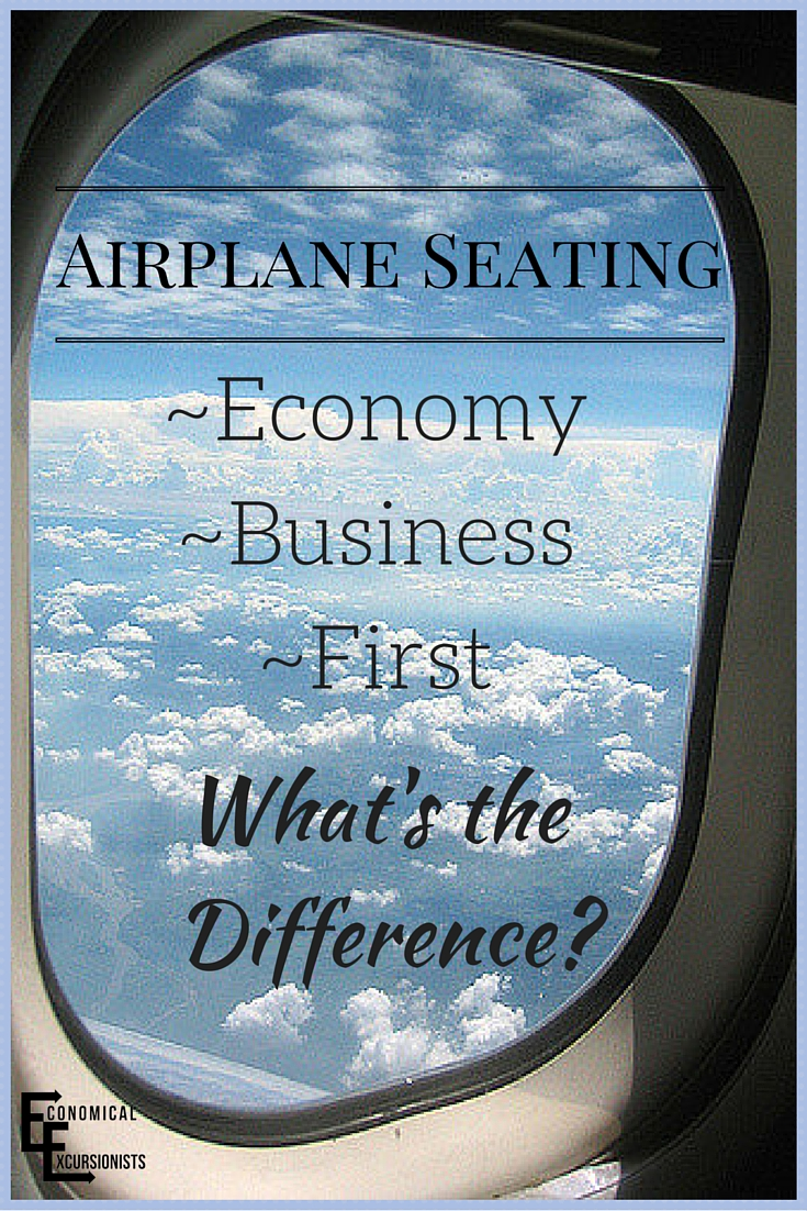 Economy, Business and First class differences in airplanes.  Who knew you could travel in such luxury!