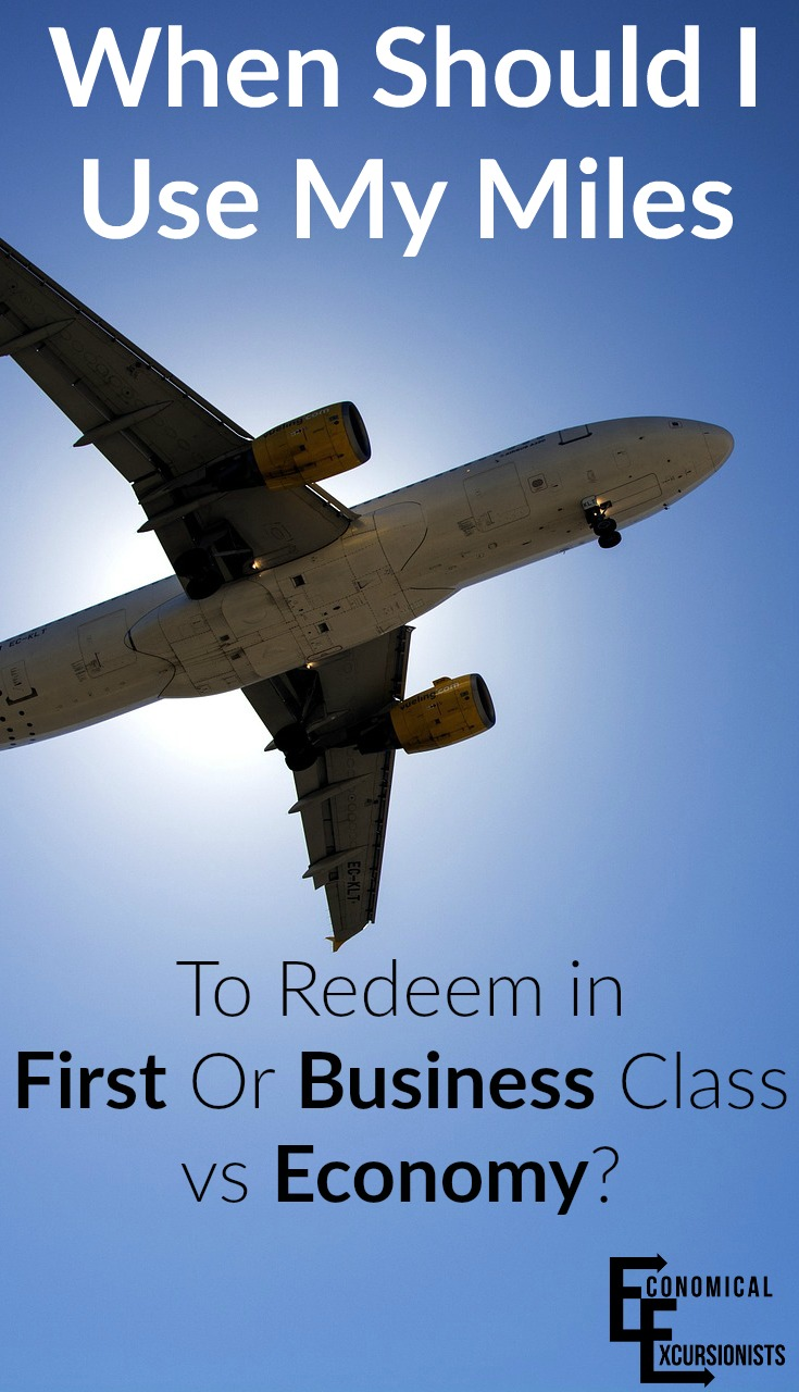Knowing when to use points on Business or First Class vs Economy can be hard, but not with this easy guide!