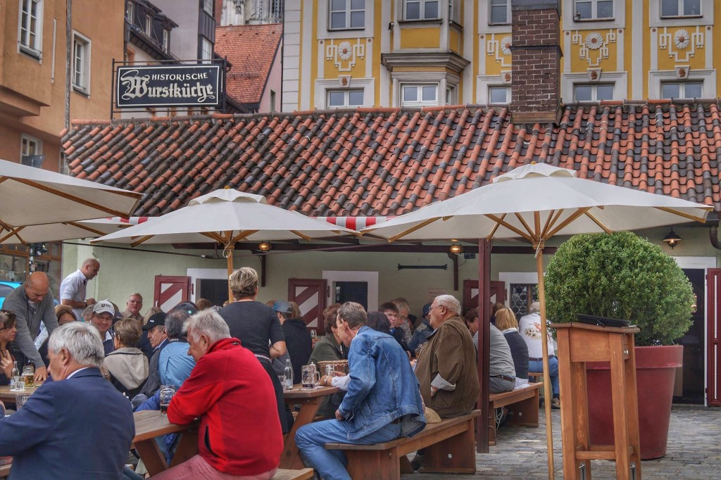 Where to eat in Regensburg like the locals: The Wurst Kuchle is a MUST!