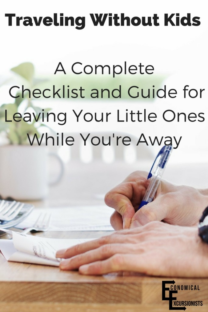 """Traveling Without Kids? This is a great """"Traveling without children checklist and guide"""""""