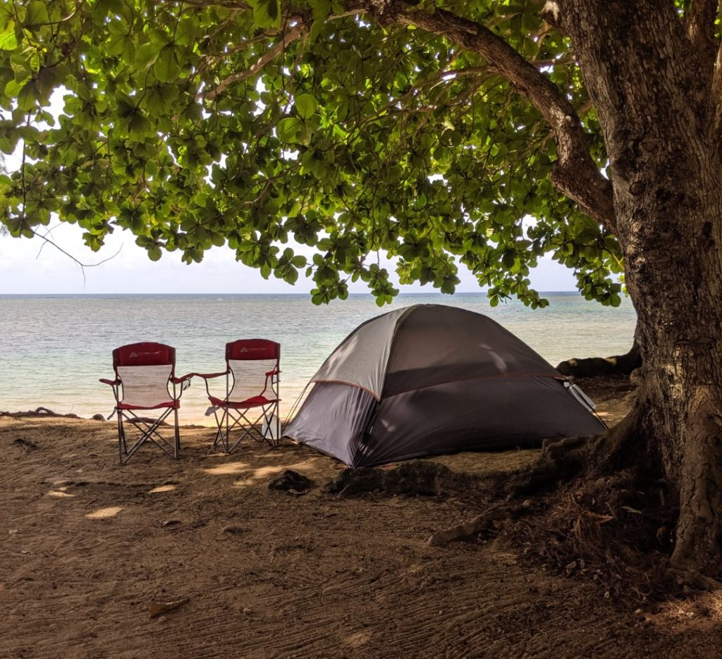 kauai campsites on anini beach kauai