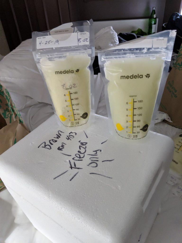 breastmilk travel